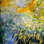 102217 - Claude Monet, Irises by the Pond 1917