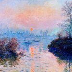 102222 - Claude Monet, Sunset over the Seine at Lavacourt in Winter, 1880