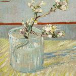 102308 - Vincent  Van Gogh, Rameau fleuri d'amandier dans un verre, 1888