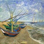 102313 - Vincent  Van Gogh, Barques aux Saintes-Maries, 1888