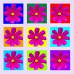 105113 Pink blomst multi lyslilla