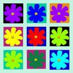 105116 Blomst multi pastelgrøn