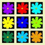 105117 Blomst multi gulgrøn