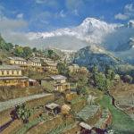107615 Nepal  landsby