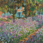 102215 - Claude Monet, Irises in Monets Garden