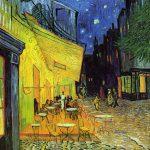 102301 - Vincent  Van Gogh, Terrasse du café le soir, Arles, 1888 K