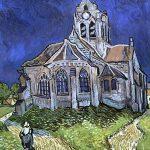 102312 - Vincent  Van Gogh, L'église d'Auvers, 1890