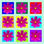 105112 Pink blomst multi pastelgrøn