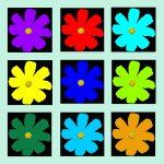 105119 Blomst multi pastelgrøn