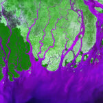 101518 The Ganges River delta, Bay of Bengal