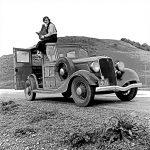 106118 Kvinde på bil California 1936