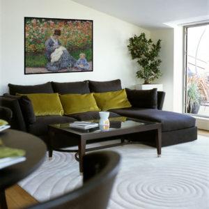 Stue med Monet AKUPRINT