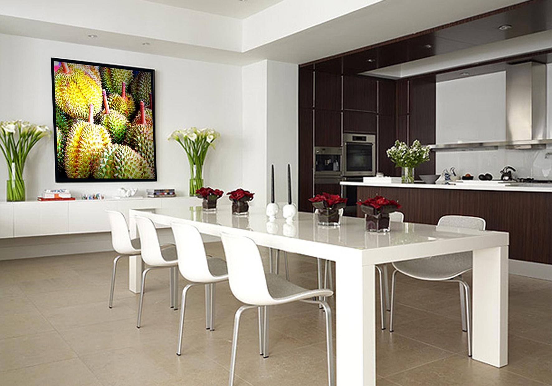 5 Køkken med Billed af exotiske frugter  AKUPRINT