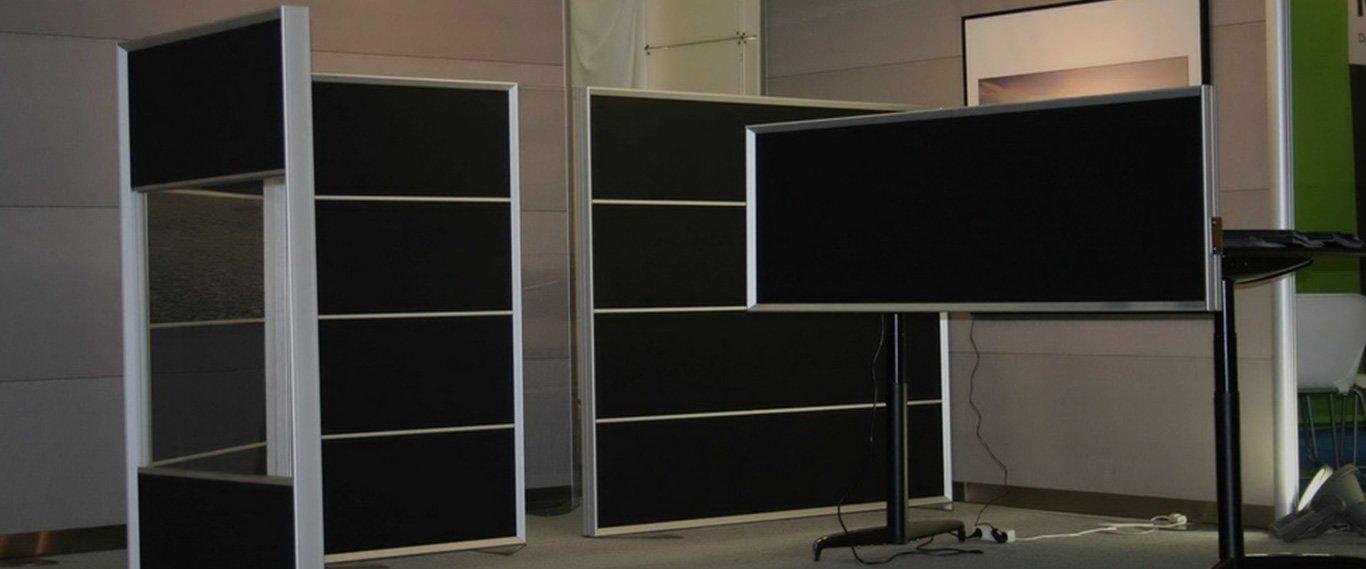 Baggrundsbillede der viser forskellige skærmvægge